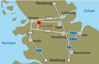 Husum Karte.Jagdschule Langenhoft Ostenfeld Husum